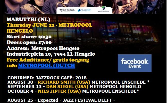 JazzRock Cafe June 2018